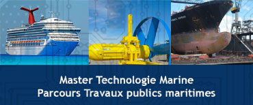 Bouton du master Technologie Marine